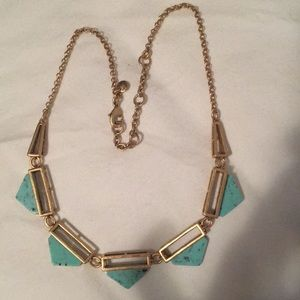 J crew turquoise necklace